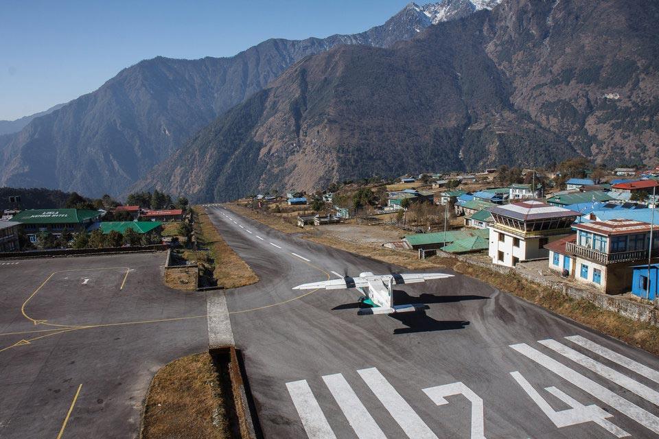 страшные взлетно-посадочные полосы Аэропорт Тенцинг-Хиллари Лукла Непал