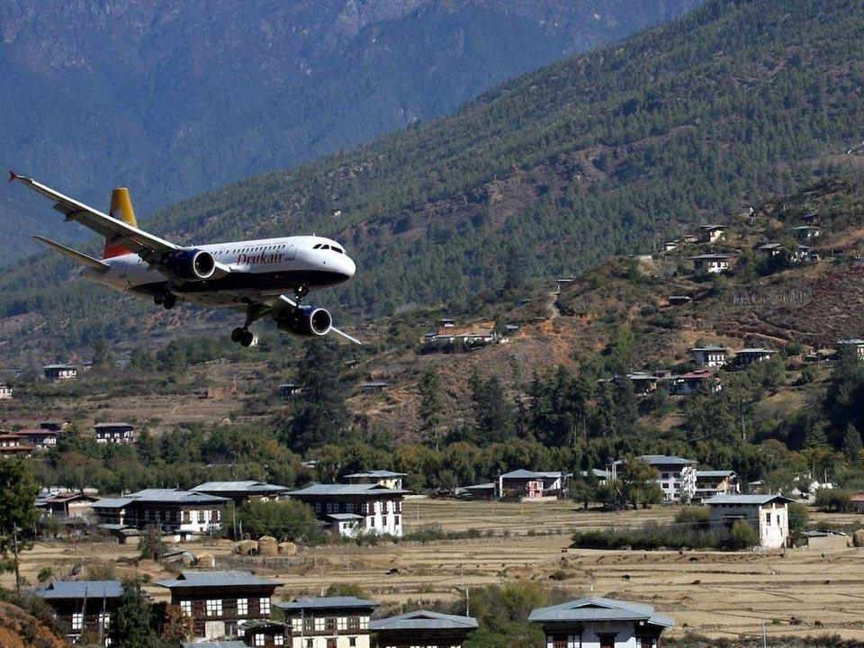 страшные взлетно-посадочные полосы Аэропорт Паро Бутан