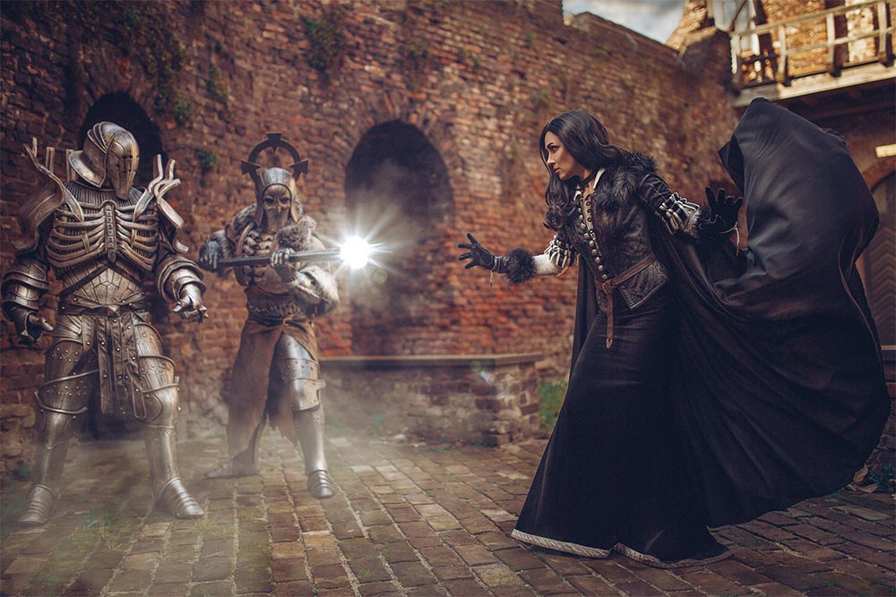 косплей по The Witcher Йеннифер, Имлерих и Карантир Leonora Gewandungen Superintendent Cosplay и tarrer