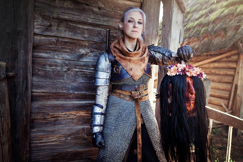 косплей по The Witcher Геральт из Ривии Alzbeta Trojanova