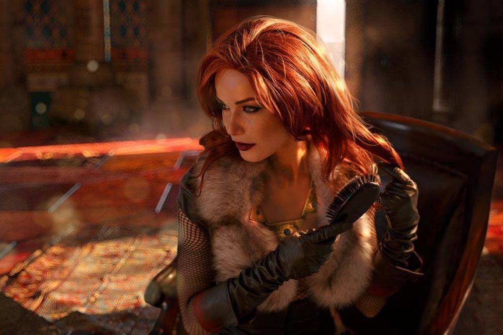 косплей по The Witcher Трисс Maria Hanna