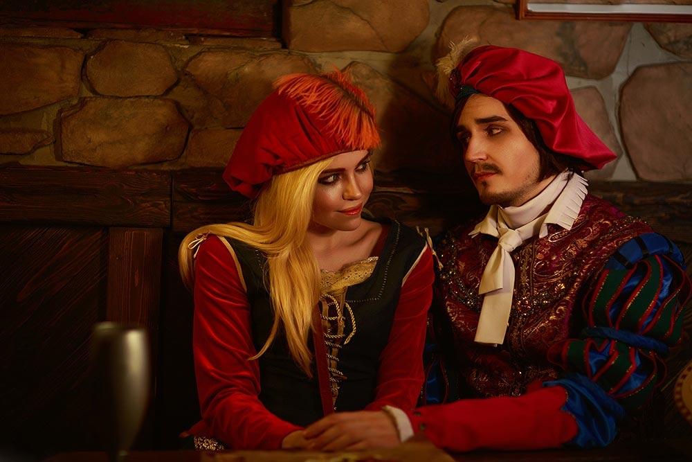 косплей по The Witcher Присцилла и Лютик Кристина Ривийская и Vitaliy Joiner