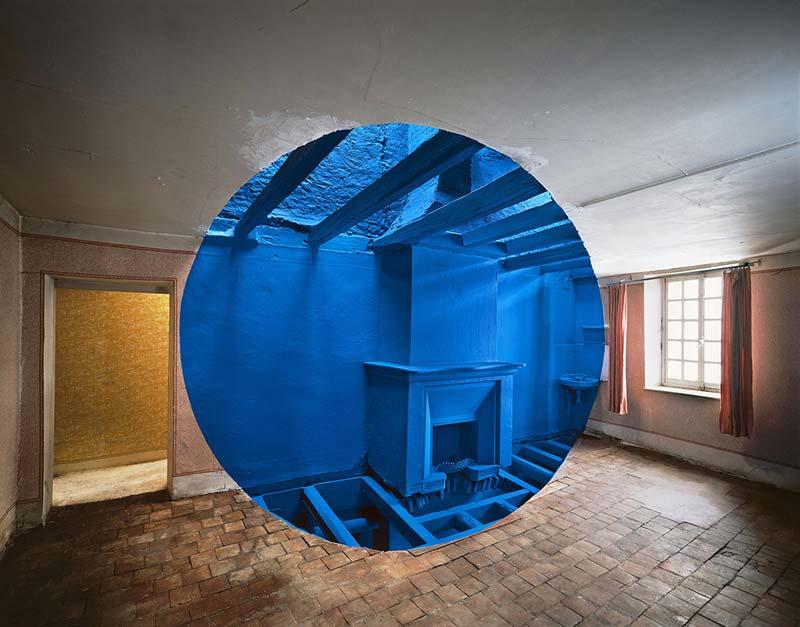 Жорж Руссе Georges Rousse Обман зрения масштабные оптические иллюзии