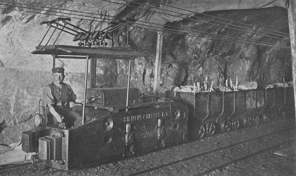 изобретения промышленной революции Трехфазный шахтный электровоз Siemens & Halske
