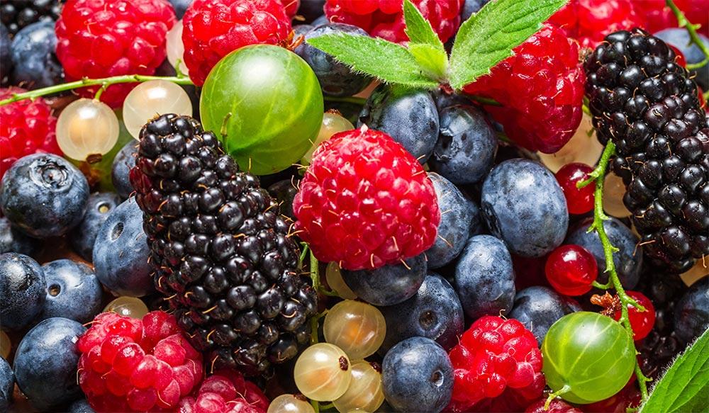 способы заморозки фруктов и овощей Смородина, голубика, ежевика, черника, крыжовник