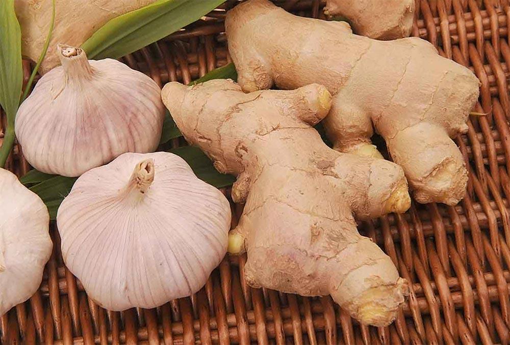 способы заморозки фруктов и овощей Имбирь и чеснок