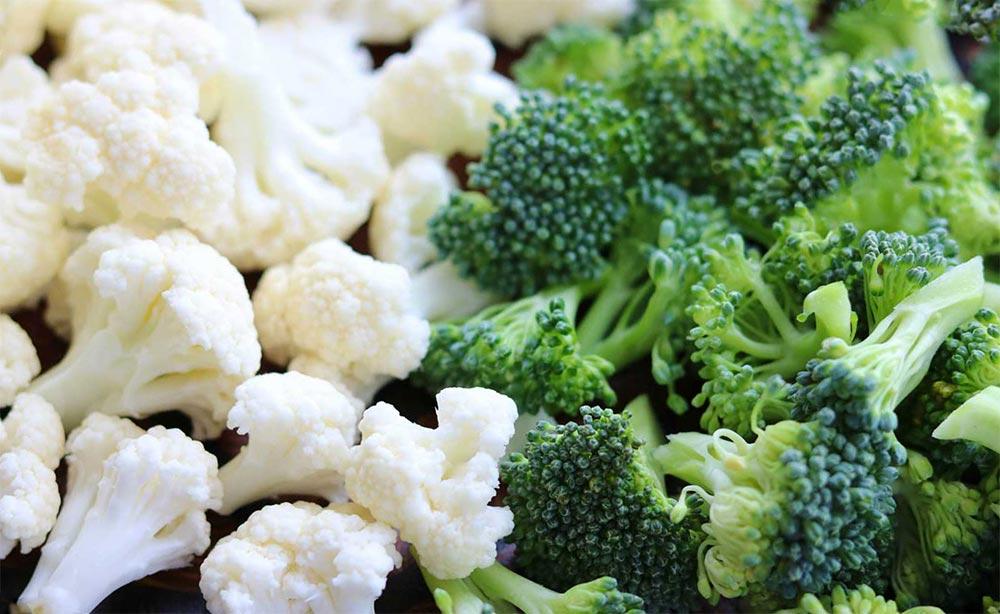 способы заморозки фруктов и овощей Брокколи и цветная капуста