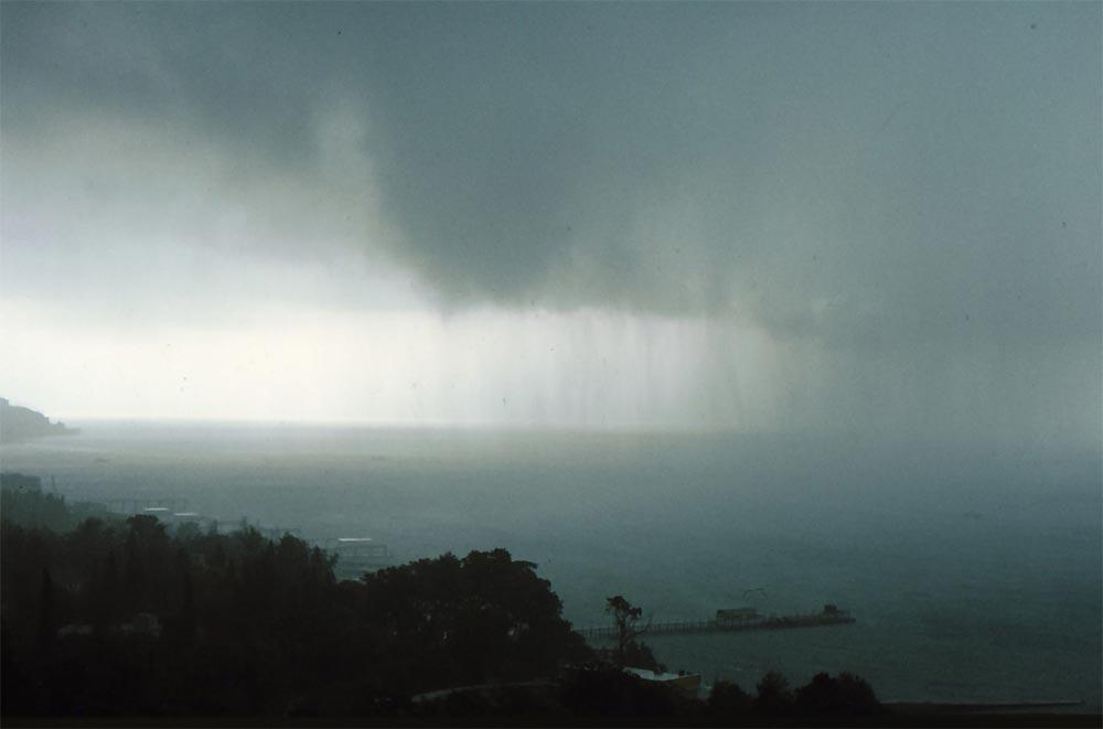 Сочи в фотографиях 80-х годов Буря над Черным морем