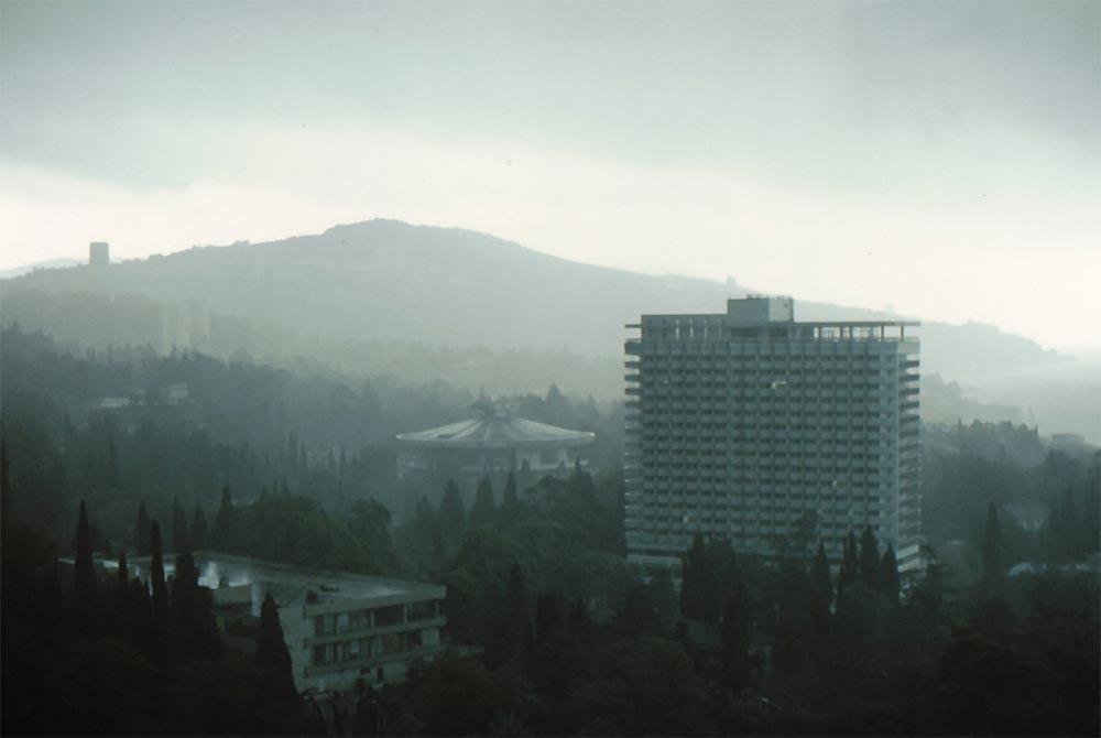 Сочи в фотографиях 80-х годов дождь над городом