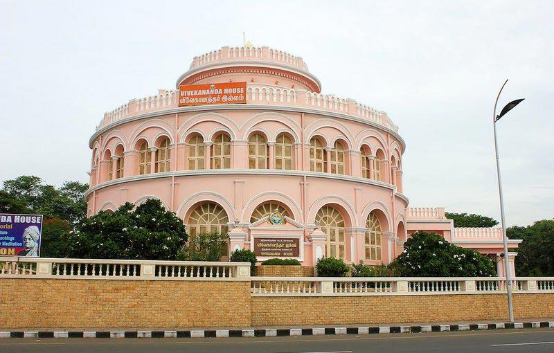 Дом Вивекананда, построенный для хранения льда, в Ченнаи (Индия)