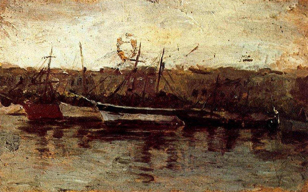 Pablo Picasso Пабло Пикассо Аликанте, вид на корабли
