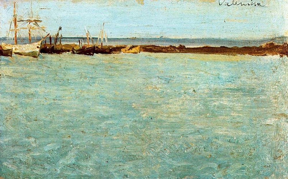 Pablo Picasso Пабло Пикассо вид на порт Валенсии