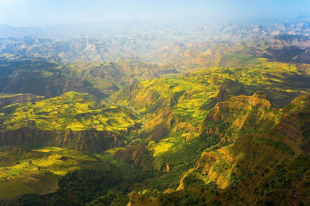 путешествие места Эфиопское нагорье