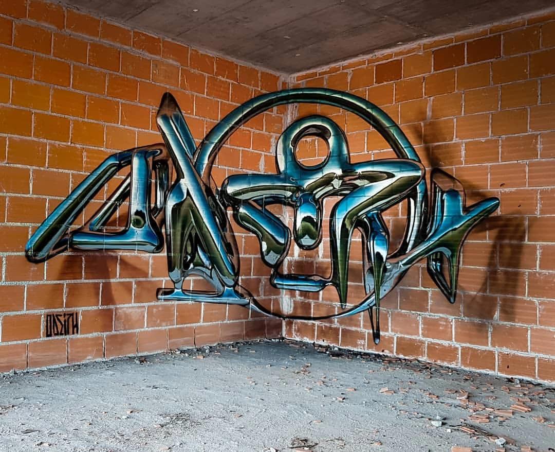 Sergio Odeith Серхио Одит уличные 3D-граффити