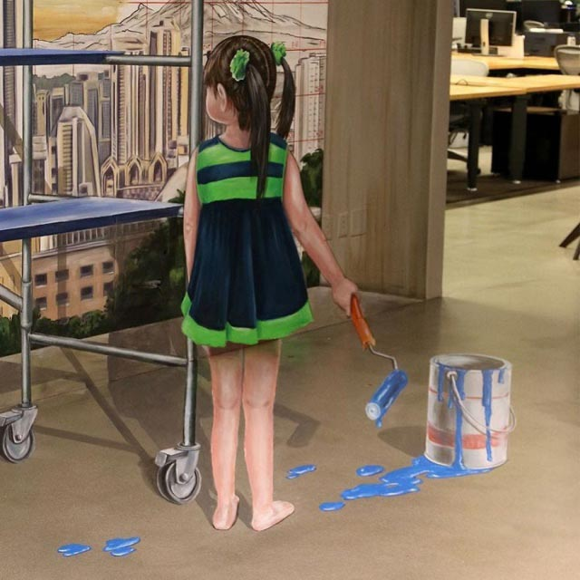 Леон Кир Leon Keer реалистичные 3D-граффити