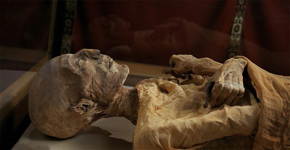 факты о мумиях Положение рук