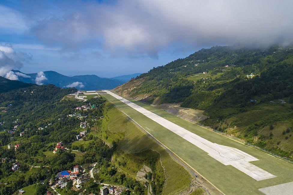 штат Сикким Индия самый красивый аэропорт в мире