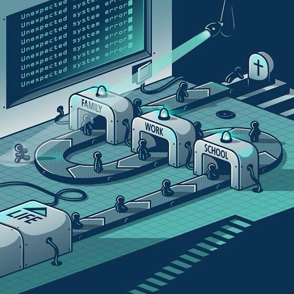 Elia Colombo Элия Коломбо сатирические иллюстрации пороки современности нарушение правил
