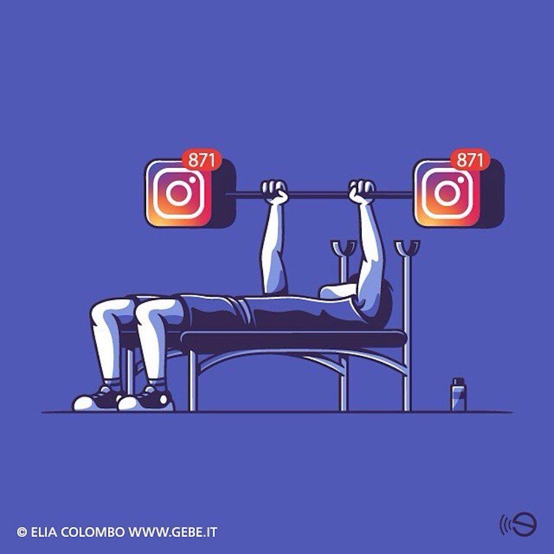 Elia Colombo Элия Коломбо сатирические иллюстрации пороки современности социальная тренировка