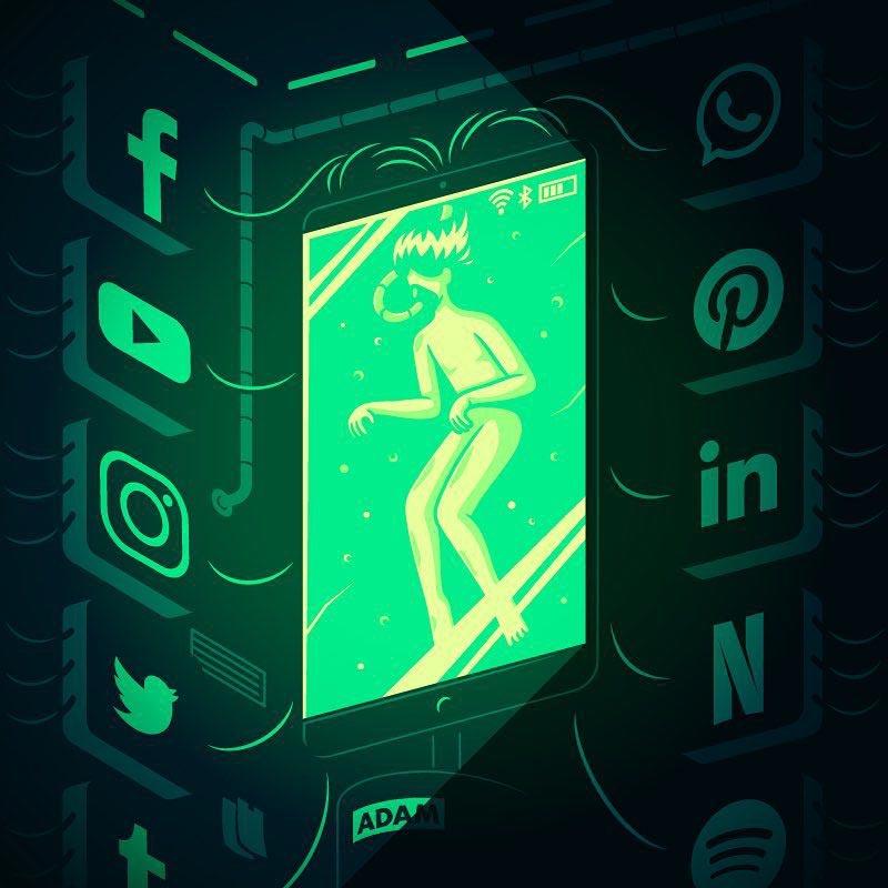 Elia Colombo Элия Коломбо сатирические иллюстрации пороки современности прототип