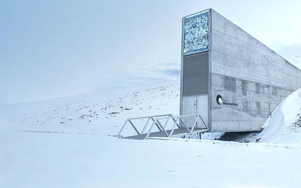 Запрещенные места для посещения на Земле семенное хранилище Свальбард Шпицберген