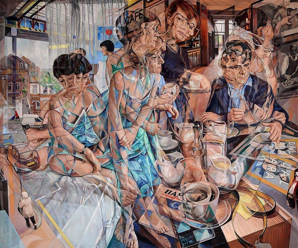 Клайв Хед Clive Head Масляные картины которые выражают течение времени