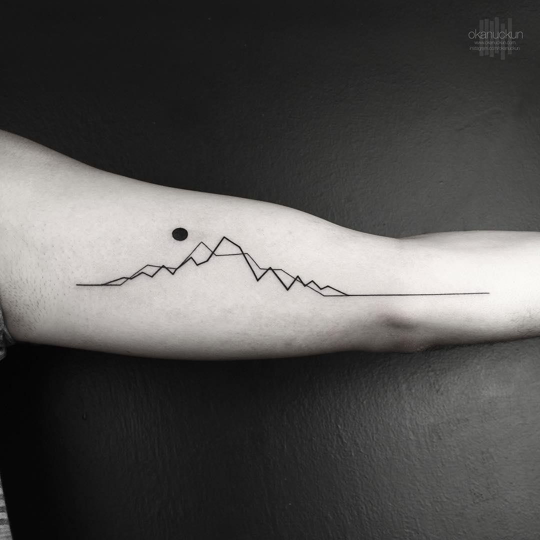 Okan Uçkun: удивительные геометрические тату