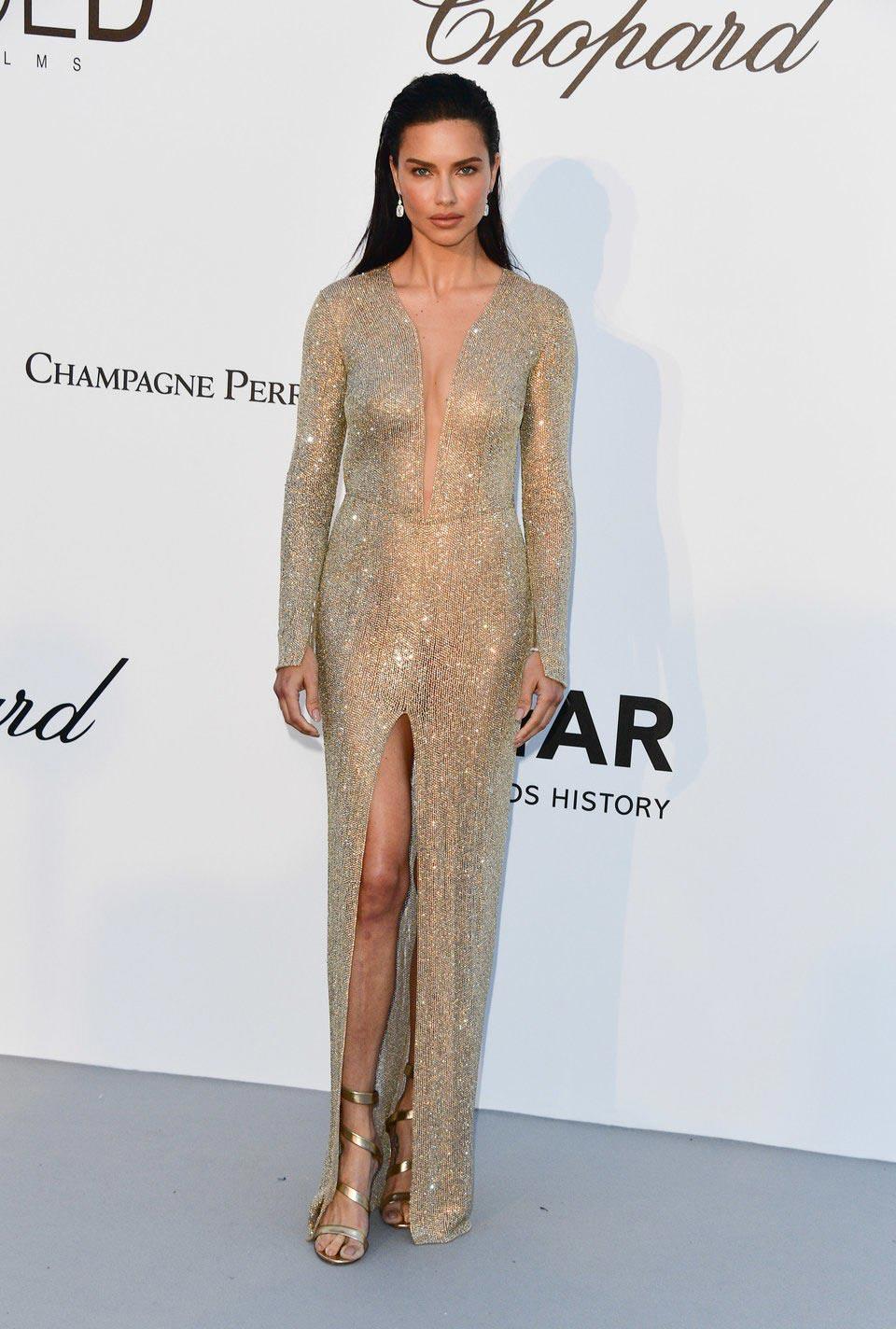 самые откровенные платья знаменитостей Адриана Лима