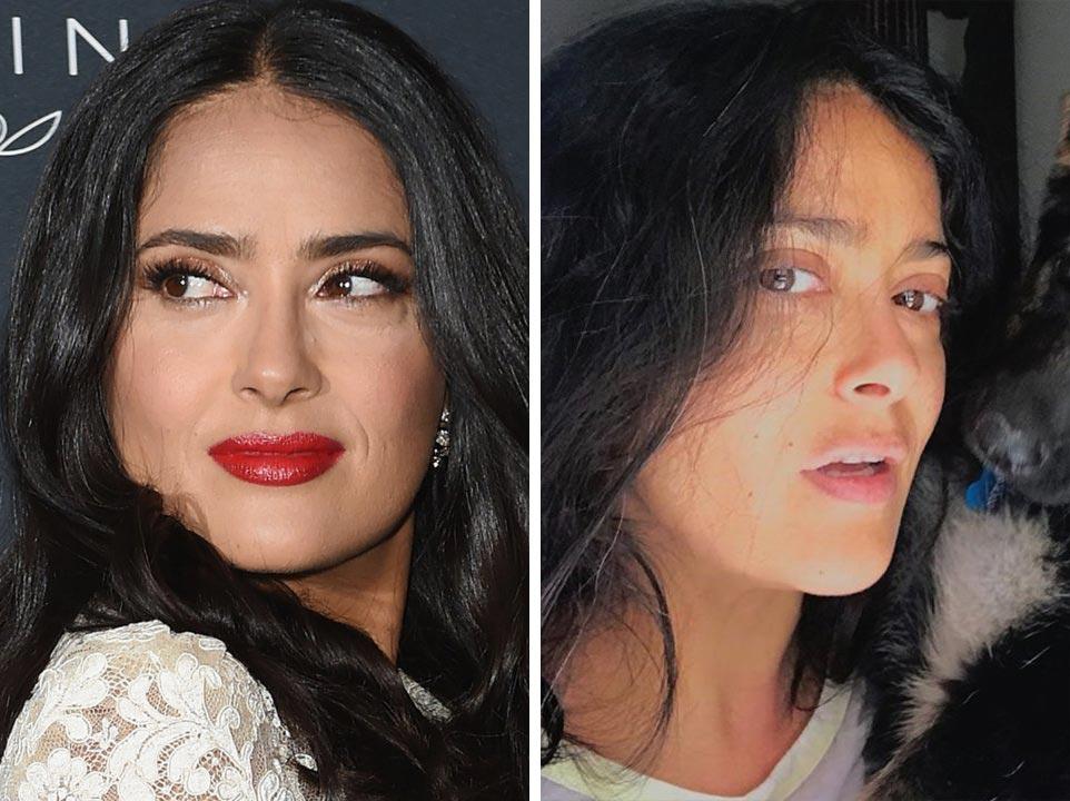 знаменитости без макияжа Сальма Хайек
