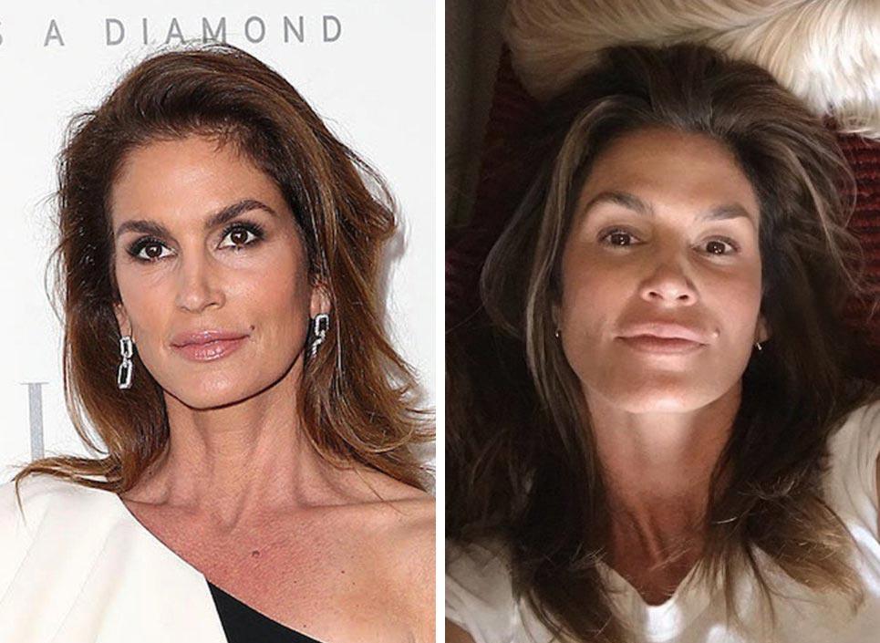 знаменитости без макияжа Синди Кроуфорд