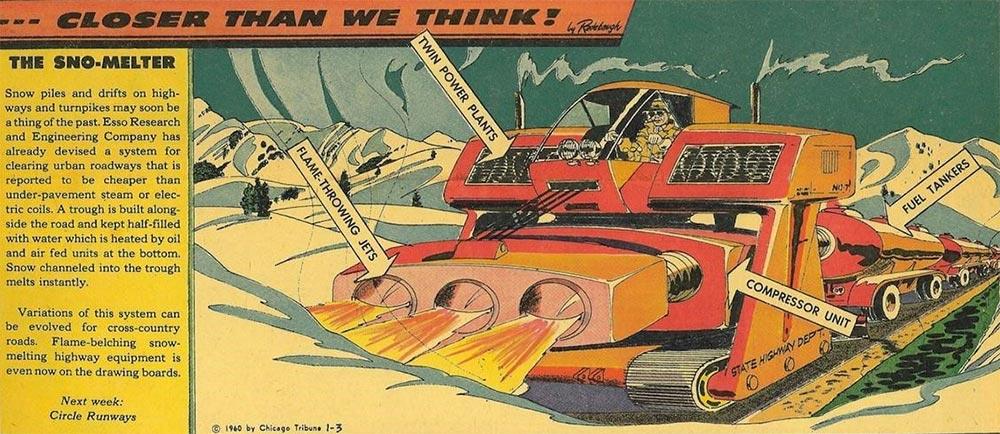 Артур Радебо Arthur Radebaugh Будущее в фантастических иллюстрациях Снегоуборочная машина