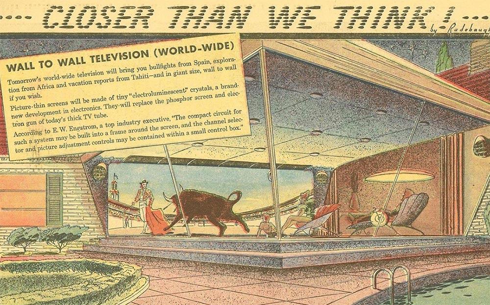 Артур Радебо Arthur Radebaugh Будущее в фантастических иллюстрациях Большой телевизор