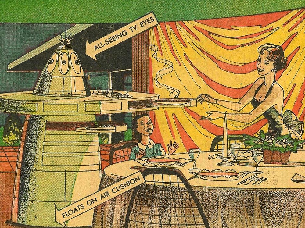 Артур Радебо Arthur Radebaugh Будущее в фантастических иллюстрациях Робот-дворецкий