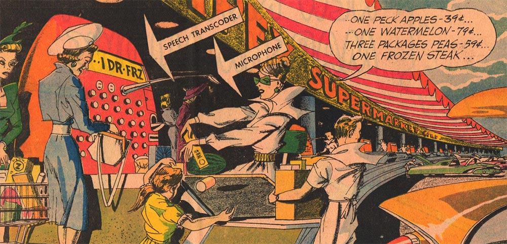 Артур Радебо Arthur Radebaugh Будущее в фантастических иллюстрациях Кассовый аппарат с распознаванием речи