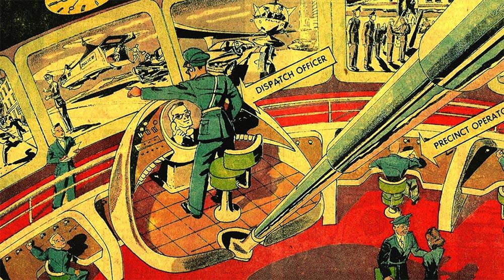 Артур Радебо Arthur Radebaugh Будущее в фантастических иллюстрациях Отделение «всевидящего ока»