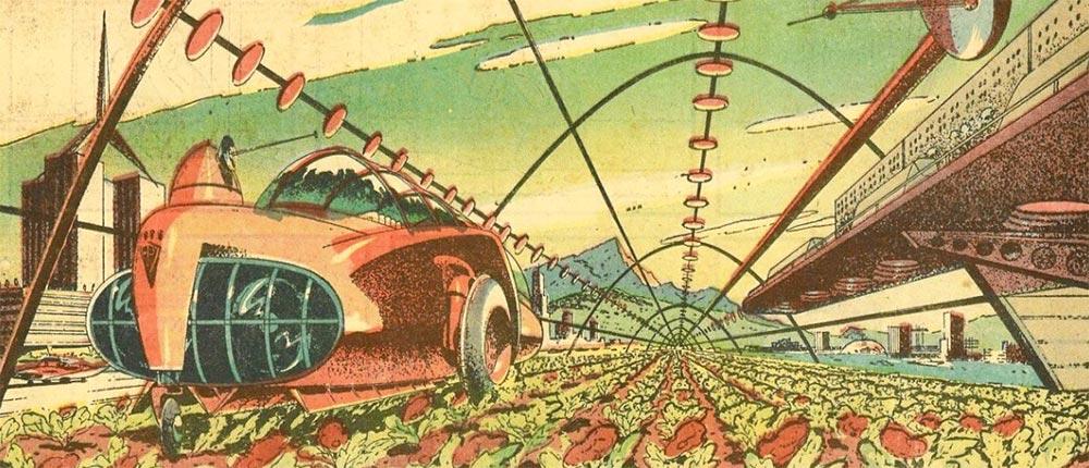 Артур Радебо Arthur Radebaugh Будущее в фантастических иллюстрациях Выращивание белковых растений (≈мясо)