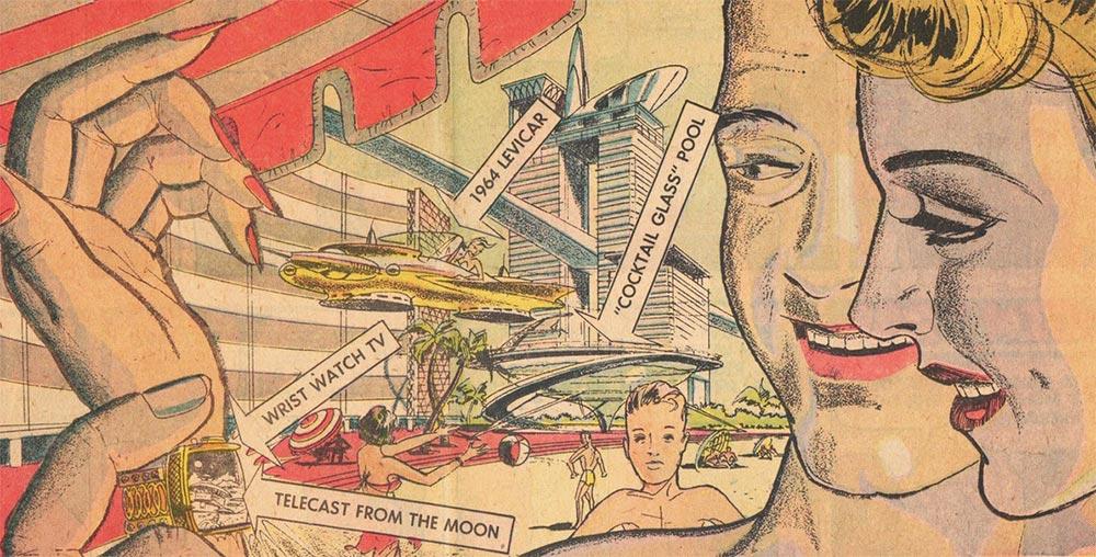 Артур Радебо Arthur Radebaugh Будущее в фантастических иллюстрациях Умные часы с ТВ