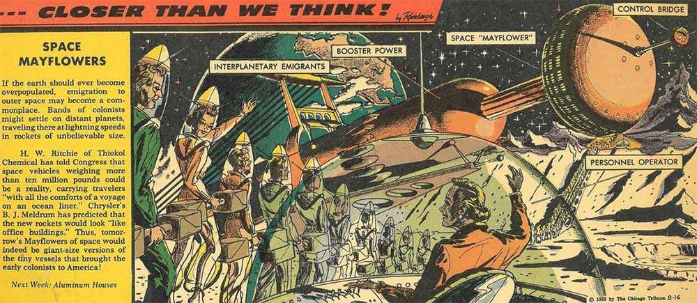 Артур Радебо Arthur Radebaugh Будущее в фантастических иллюстрациях Космические путешествия