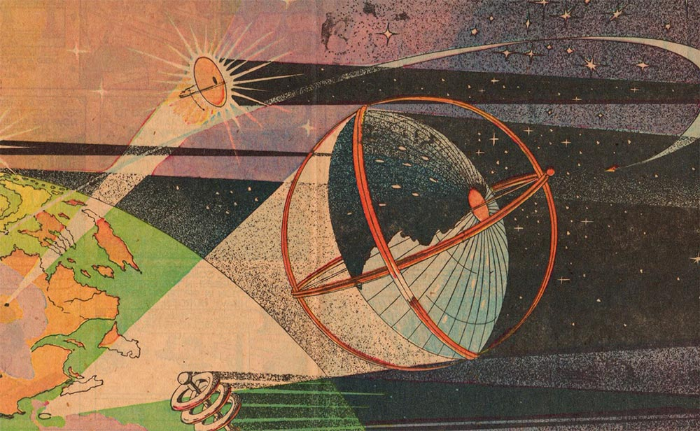 Артур Радебо Arthur Radebaugh Будущее в фантастических иллюстрациях Управление погодой