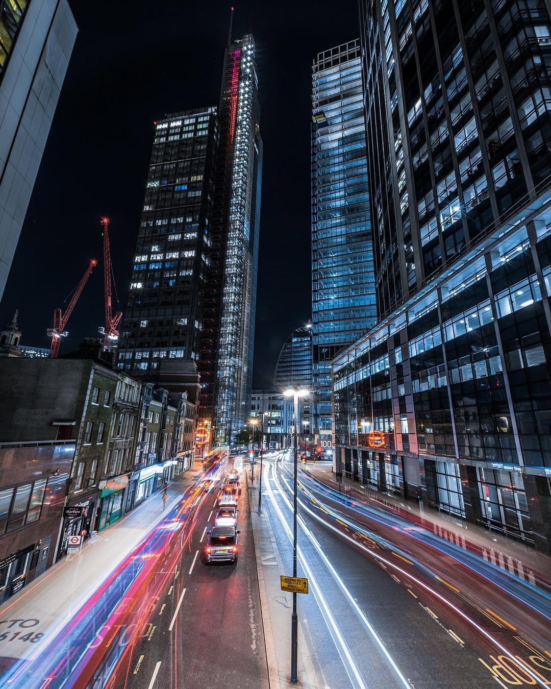 ночной Лондон фотографии Люк Холбрук Luke Holbrook