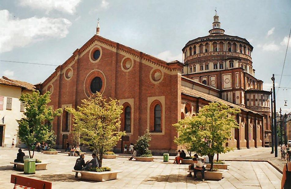 известные произведения искусства «Тайная вечеря» Леонардо да Винчи: Санта-Мария-делле-Грацие, Милан
